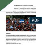 El Desempleo y La Migración de La Población Hondureña
