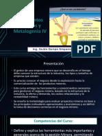 Presentacion N° 1 Introducción Yacimientos Mineros y Metalogenia