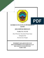 Ktsp Kurikurum Kb Nabaul Ulum 2018-2019