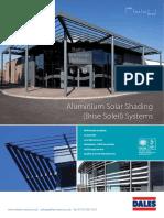 Aluminium solar shading