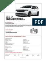 Durango 2016-17 RT Pro Kit
