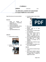 Procedimiento de Calibración y Medición de Conductividad Usando El Equipo HQ40d de La Marca HACH