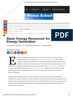 Basic Energy Resources for Electrical Energy Generation _ EE Power School