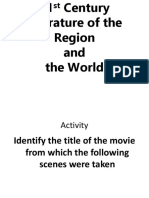 21st Century Literature of the Region and of the World