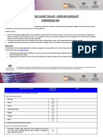 WEST - Supplier Checklist - compressed air.doc
