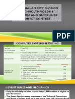 Contest Guidelines and Criteria for ICT-Secondary