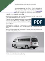 Nên mua xe Ford Limousine tại Đà Nẵng hay Toyota Hiace