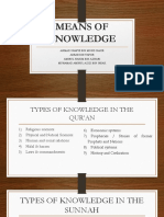 Means of Knowledge in islamic perspective