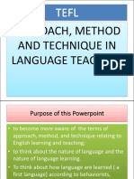 Approach, Method, Technique