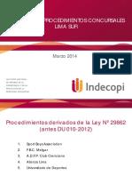 INDECOPI Procedimientos Concursales de Los Clubes de Fútbol