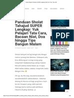 Sholat Tahajud_ Panduan SUPER Lengkap! (Niat, Doa, Cara, Tips, Dll).pdf