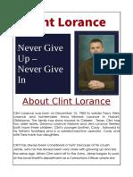 Clint Lorance Story