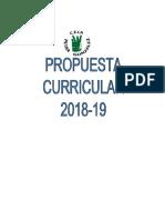 Propuesta Curricular 2018-19