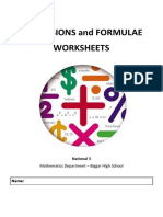 Fractions and Formulae