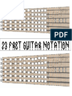 23 Fret Guitar Notation