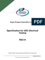 RSC10 UDC Electrical Testing