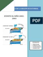 Proyecto Final El Niño 2002 2003
