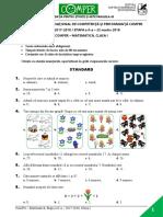 Subiect Comper Matematica EtapaI 2018 ClasaI