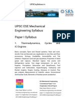 UPSC ESE Mechanical Engineering Syllabus - 2016-2017 _ UPSCsyllabus