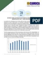 INFORME SOBRE LOS RESIDUOS ELECTRÓNICOS PRODUCIDOS EN LA ARGENTINA - CAMOCA - 2017