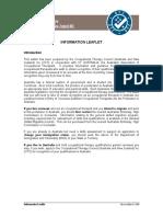Otc Information Leaflet