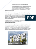 Descripción de Proyecto Arquitectónico