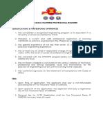 ACPE Qualifications Fees
