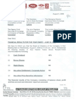 Financial Results 2008-09