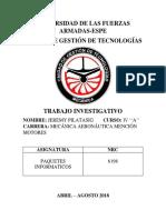 Trabajo Investigativo de Paquetes Inf