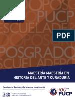 Maestría en Historia del Arte y Curadoría PUCP