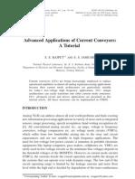 Advanced Applications of Current Conveyors - ATutorial_Rajput