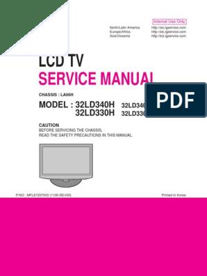 Lg 32ld330h-Ua 32ld340h-Ua Chassis La06h | Printed Circuit