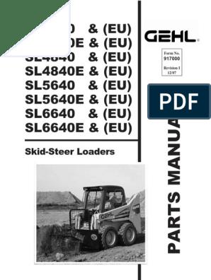 GEHL SL 4640 4840 5640 6640 PARTS MANUAL pdf   Screw   Turbocharger