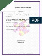 Formato de Certifica