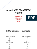 Unit-II Mos Transistor Theory