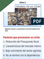 Unidad II. Tema 5. Crisis Del Modelo Isi en Chile