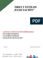 Factores y Estilos de Negociación Presentacion