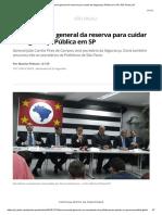 Doria Anuncia General Da Reserva Para Cuidar Da Segurança Pública Em SP _ São Paulo _ G1