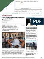 O Tratamento de Presos é Indicador de Grau de Civilidade - 21-01-2017 - Ilustríssima - Folha de S.paulo