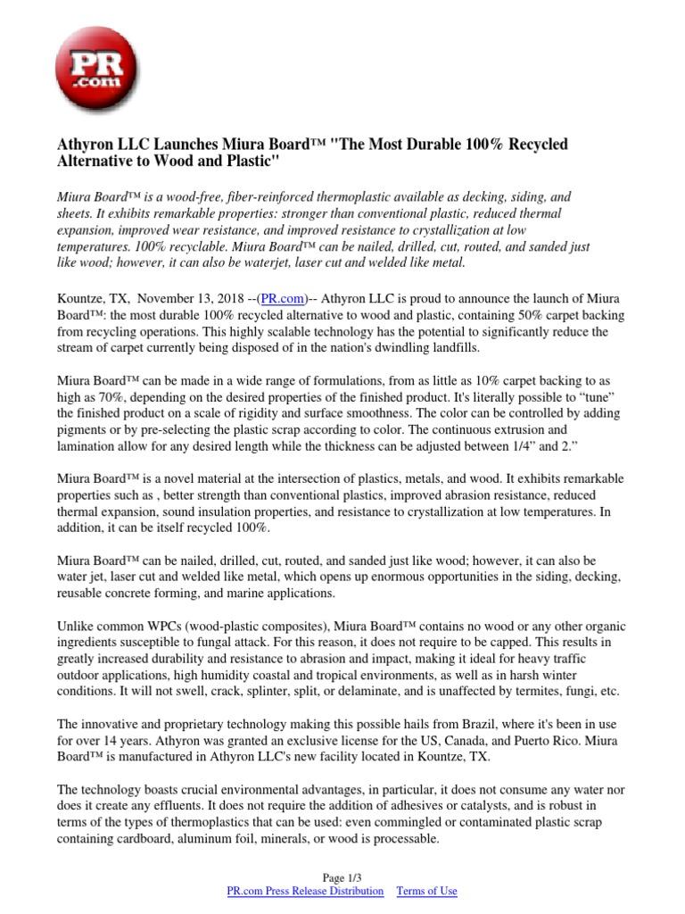 Athyron LLC Launches Miura Board™
