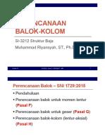 Set 07 - Perencanaan Balok-Kolom - SNI 1729-2015