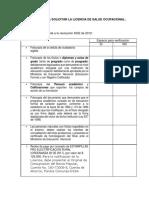 Información Para Solicitar La Licencia de Salud Ocupacional
