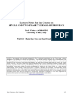 Single and two phase thermal hydraulics