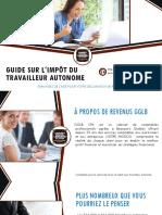 Guide pour l'impôt du travailleur autonome, déductions, taxes