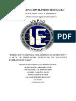 Diseño de Un Sistema Inalámbrico de Detección y Alerta de Fibrilación Auricular en Pacientes Postrados en Cama