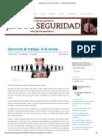 Entrevista de Trabajo_ Sé Tú Mismo. – JEFE de SEGURIDAD
