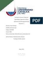 Informe 7 Metalurgia Extractiva