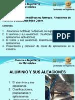 Clase 5 Parte 2. Aleaciones No Ferrosas Aluminio y Sus Aleaciones, Cobre y Sus Aleaciones