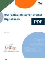 Digital Signatures ROI White Paper Over 100[1]
