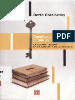 Braslavsky, B. Enseñar a Entender Lo Que Se Lee
